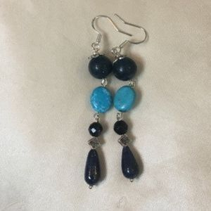 Lapis Lazuli Stone Dangle Earrings
